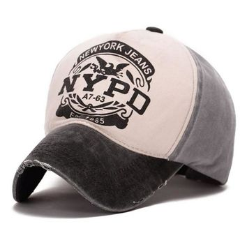 Sports Hat Cap trendy  New Print Letter NYPD Sun Hat Outdoor Cap Summer Outdoor Sports Adult Quick Drying Casual Adjustable Baseball Cap otton Sunhat KO_16_1