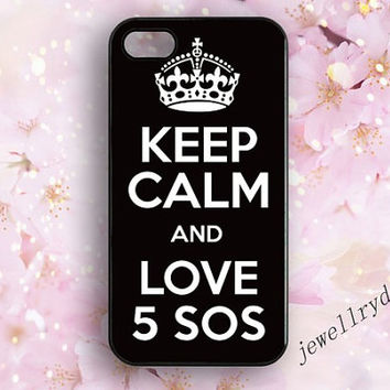 keep colm and love 5sos iphone 5/5s case,5sos iphone 5c case,Keep Calm iphone 4/4s case,love 5sos samsung galaxy s3 s4 s5 case