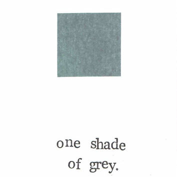 One Shade Of Grey Funny Card Birthday 50 Shades Fan Fiction Humor Greeting Note Card Stationery Woman Feminist Modern Minimalist Hipster