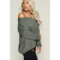 Tie Me Up Knit Sweater (Green Mint)