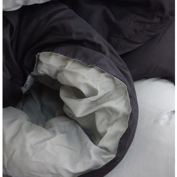 Black Gray Reversible Comforter Twin XL Bedding College Dorm Items Stuff For College Twin XL Beds Dorm Room