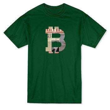 Bitcoin Newspaper Pattern Design Men's T-shirt