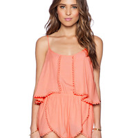 Strappy Backless Lace Romper