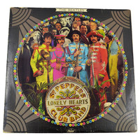 Vintage 70s The Beatles Sgt. Pepper's Lonely Hearts Club Band Picture Disc Record Vinyl Album LP