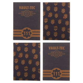 Fallout Gaming Journal Set of Four Fallout Gift for Gamers - Fallout Accessories Gaming Stationary