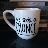 "One Direction 18 ""We Took a Chonce"" Mug"