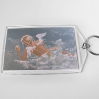 Angel Keychain Angelic Painting Star Maker Key Chain