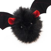 Vlad the Red Eared Black Bat Stuffed Animal Plush Toy