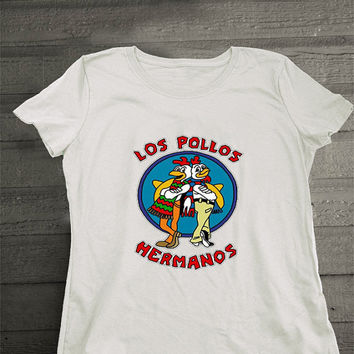 Los Pollos Hermanos shirt Women Break Bad t-shirt Jesse Pink tee Patrick Stump white