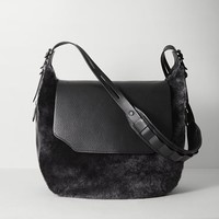 Rag & Bone - Bradbury Large Flap Hobo, Grey Shear Size 1