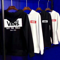 Vans Fashion Casual Pullover Long Sleeve Hoodie Print Sweater