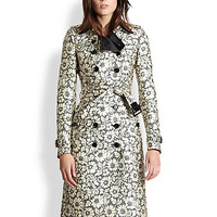 Brocade-Lace Trenchcoat