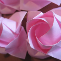 Origami Rose Paper Rose 1st Anniversary Gift Wedding Engagement Reception Birthday Party decoration Love Gift Paper Flower  Origami Flower