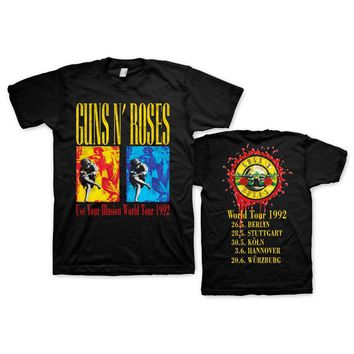 Guns N' Roses World Tour 1992 - Mens Vintage Coal T-Shirt