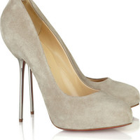 Christian Louboutin Big Lips 120 suede pumps [2010100415] - $179.00