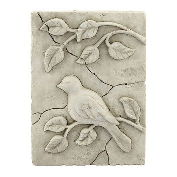 Stonebriar Collection Bird Plaque Wall Decor (Grey)