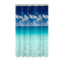Escape Ocean View 70-Inch x 72-Inch Shower Curtain