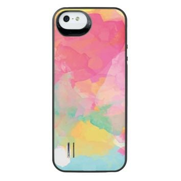 Cheerful Colorful Abstract iPhone SE/5/5s Battery Case