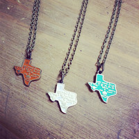 New State Necklace -Texas