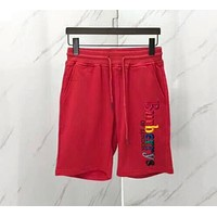 Burberry Rainbow Letter Embroidery Red Drawstring Sport Stretch Pants Trousers Sweatpants Shorts I-CN-CFPFGYS