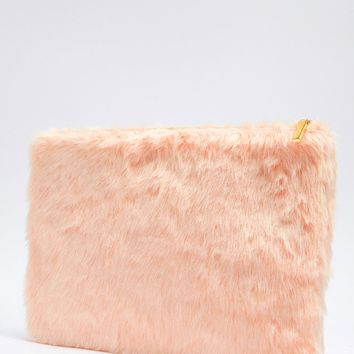 Oversized Faux Fur Clutch