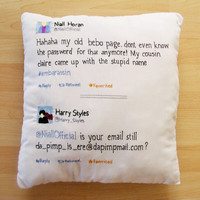 Twitter Pillow Niall Horan  Harry Styles da pimp by mediocrechick