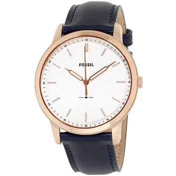 Fossil Mens FS5371 The Minimalist White Dial Mens Leather Watch