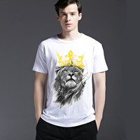 Pattern Men's Fashion Men Short Sleeve Strong Character Creative Fashion Print T-shirts = 6450103107