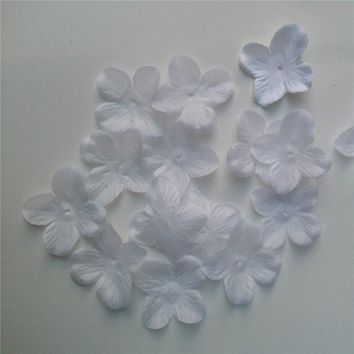 100Pcs Artificial Silk Flower Petals Rose Flower Leaves Birthday Wedding Party Decoration Baby Shower Confetti Decorative Wreath