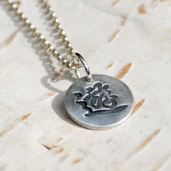 Chinese Symbol 'Travel' Silver Necklace - Eco Friendly Recycled Silver