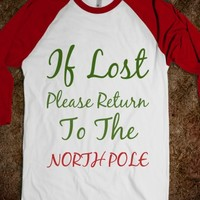 If lost please return to the North Pole