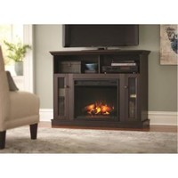 Home Decorators Collection, Charles Mill 46 in. Convertible Media Console Electric Fireplace in Walnut, 85804 at The Home Depot - Mobile