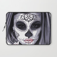 Sugar Skull Girl Laptop Sleeve by Smyrna