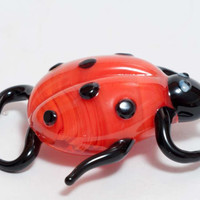 Glass Hand-Blown Glass Ladybird Collectible  Figurine