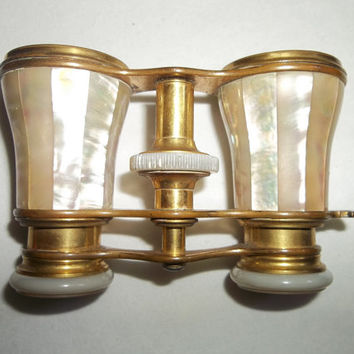 Antique Le Maire French Opera Glasses...Binoculars...Mother Of Pearl...Good Condition...Victorian