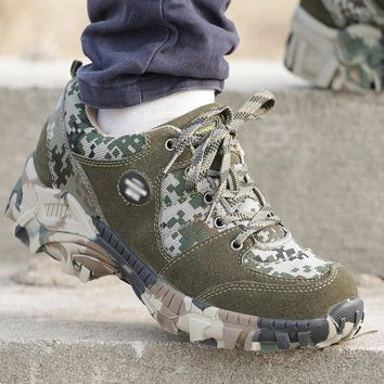 Outdoor Hiking Shoes Military Tactical Camouflage Trekking Shoes Men's Hunting Boots Shoes Mountain Boots Botas Militares Hombre
