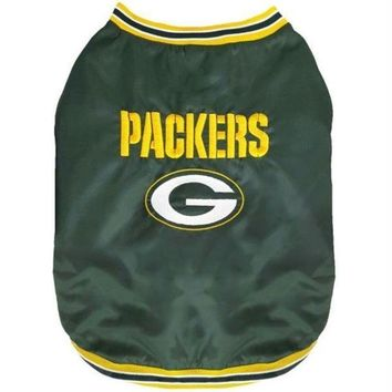LMFB5F Green Bay Packers Pet Sideline Jacket