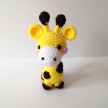 Amigurumi Giraffe Crochet Giraffe Stuffed Animal Stuffed Toy Giraffe Kids Toy Kawaii Giraffe Plush Birthday Baby Shower Gift Ideas