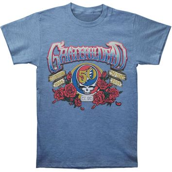 Grateful Dead Men's  1965 - 2015 Slim Fit T-shirt Heather Blue