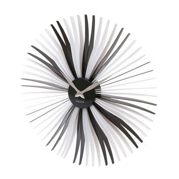 Karlsson Oopsy Daisy Black and White Wall Clock