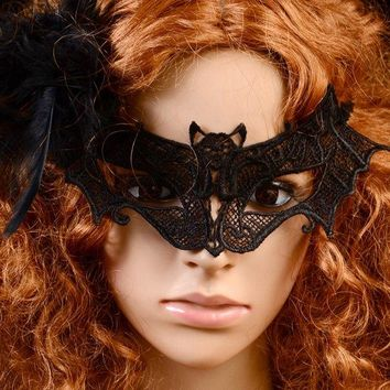 Vintage Bat Lace Party Mask