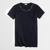 Factory gem necklace collector tee