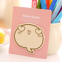 Memo Pads Sticky Notes Labels | Bookmark Stationary Paper | School Office Supplies | Heart Shaped Eyes Cute Korean Post-It M22