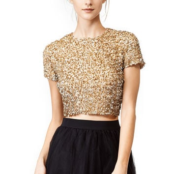 Badgley Mischka Gold Dust Top