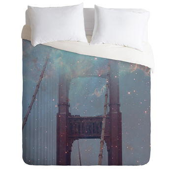 Maybe Sparrow Photography Starry San Francisco Duvet Cover