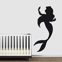 Wall Decal Vinyl Sticker Little Mermaid Fairy Animated Cartoon Dorm Nursery B214