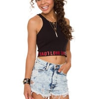 Love Crop Top - Black