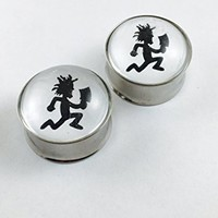 Hatchet Man double flair plugs stainless-steel (1 Pair) Different Sizes Available (2G)