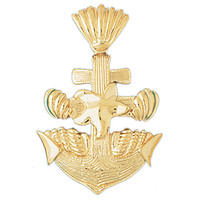 14K GOLD NAUTICAL CHARM - ANCHOR #1132