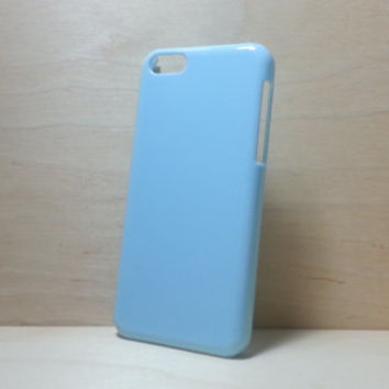 iphone 5c hard plastic case - Light Blue (for decoden phone case)